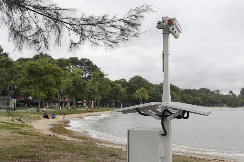 Coastal Cameras protecting Singapore Borders